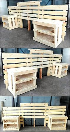 This wooden pallet idea is giving you a beautiful picture description to craft a thought-provoking wooden pallet headboard with sides tables for your place. This is an easier and eye-catcher plan that will simply increase the grace of your bedroom with its charming beauty.