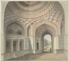 The Mughal interior of the west gate to Allahabad Fort     Mughal India - Opening November 2012