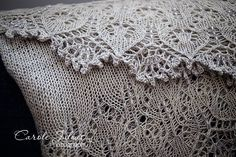 Intermediate (Charted) Lace Knitting Pattern. To learn lace knitting, go to http://knitfreedom.com/classes/lace-knitting. (c) CaroleKnits
