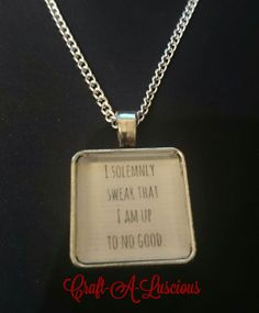 """<Harry Potter> 18"""" Chain Necklace (I Solemnly Swear That I Am Up To No Good).  #silver #jewellery #necklace #crafting #handmade Silver Jewellery, Jewelry, Uk Shop, Dog Tag Necklace, Harry Potter, Crafting, Chain, Handmade, Jewlery"""