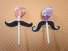 Halloween Mustache Suckers! Use for a Valentines Day Storytime
