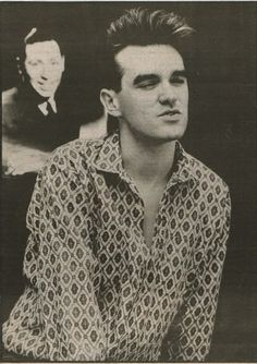Morrissey of The Smiths — photo by Pat Bellis (c.1985).