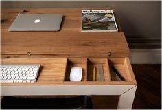 Bureau minimaliste en bois Soren Rose