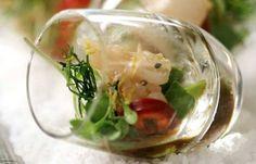Alexander Steakhouse #Hamachi #Shooters - amazing!  Truffled ponzu sauce, chili, avocado, frizzled ginger, cilantro greens