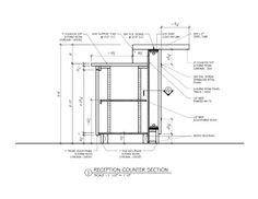 Image result for reception desk  detail drawings