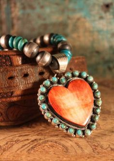 Dan Dodson Spiny Oyster and Turquoise Necklace