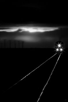 ☾ Midnight Dreams ☽ dreamy dramatic black and white photography - train a comin'