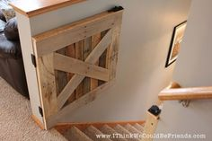 Palette Wood Baby & Pet Gate | I Think We Could Be Friends