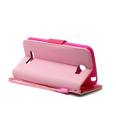 Pink Flip Leather Case Cover  For Alcatel One Touch Fierce 2  Pop Icon  only 11.49$ free shipping to usa