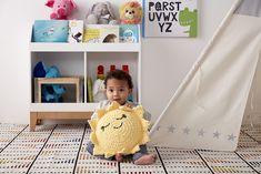 Almofadas de Crochê para o Quartinho das Crianças Toy Chest, Storage Chest, Kids Rugs, Toys, Furniture, Home Decor, Unicorn Cushion, The Zoo, Round Pillow