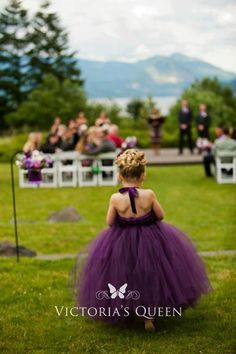 Fairy purple tulle ball gown for flower girl toddlers. Tutu flower girl dress in purple with halter strap. Floorlength Fairy purple tulle ball gown for flower girl toddlers. Tutu flower girl dress in purple with halter strap. Mod Wedding, Fall Wedding, Dream Wedding, Elegant Wedding, Trendy Wedding, Wedding Bells, Color Uva, Plum Color, Wedding Inspiration