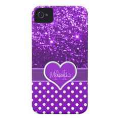 Sparkles and Polka Dots Heart iPhone 4 Case