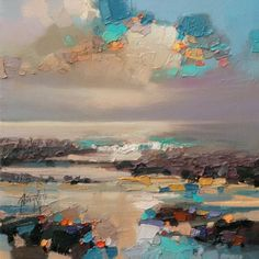 """Scottish Landscape Artist: Scott Naismith""""After 10 years of painting the Scottish landscape, my recent work now becomes more involved with cloudcover and its effect on light and colour through both its translucent and opaque properties. Clouds are..."""