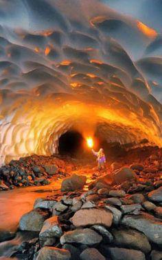 Mendenhall Ice Caves, Juneau, Alaska..