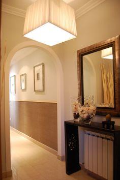 Proyecto decorativo salón y hall Madrid. www.estudiodecoracion.com