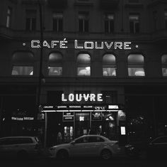 Café Louvre, Prague - the noir feeling. The Noir, Louvre, Vsco Grid, Prague, Broadway Shows, Black And White, Feelings, Travel, Life