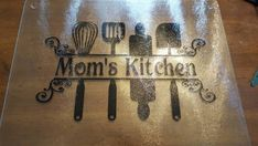 Personalized glass cutting board by KimKreativeKorner on Etsy