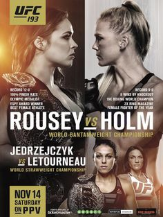 Ronda Rousey vs Holly Holm official fight promo : if you love #MMA, you'll love the #UFC & #MixedMartialArts inspired fashion at CageCult: cagecult.com/mma