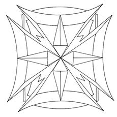Geometric Pattern Coloring Pages 1
