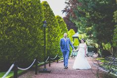 Ryan and Fiona are the picture of perfection as they stroll through the gardens of Brig O'Doon House Hotel in Alloway.   www.jodonaldsonphotography.com