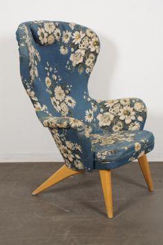 Design by Olof Ottelin, circa the 1950's. #productdesign #industrialdesign #ID #design #furniture #chair #wingchair #OlofOttelin #vintage
