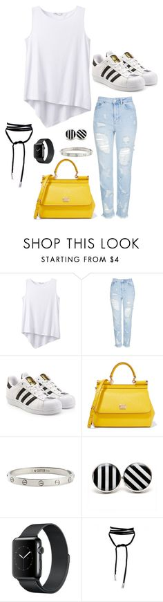 """&"" by alishabbarton on Polyvore featuring prAna, Topshop, adidas Originals, Dolce&Gabbana and Cartier"
