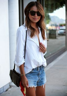denim + white.