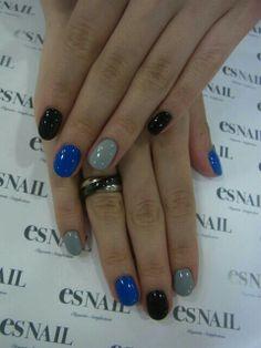 Azul/gris/negro