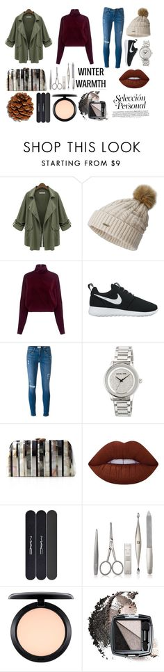 """""""Untitled #95"""" by smithn-i on Polyvore featuring Chicnova Fashion, SOREL, McQ by Alexander McQueen, NIKE, Frame Denim, MICHAEL Michael Kors, Serpui, Lime Crime, MAC Cosmetics and Zwilling Pour Homme"""