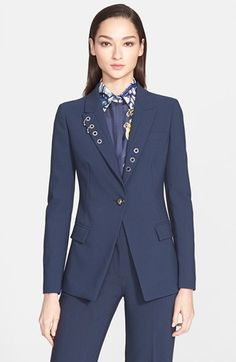 Versace Collection Eyelet Detail Jacket available at #Nordstrom