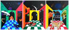 Perspective in Space! A fun twist on one-point perspective projects!