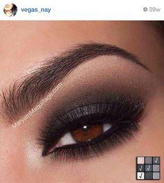 Smokey Eye for Brown Eyes - 42 Gorgeous Eye Makeup Looks to Try . → Beauty Smokey Eye for Brown Eyes - 42 Gorgeous Eye Makeup Looks to Try . Gorgeous Eyes, Gorgeous Makeup, Love Makeup, Makeup Looks, Purple Makeup, Awesome Makeup, Smokey Eye Makeup Tutorial, Eye Makeup Tips, Skin Makeup