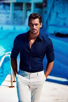 How breathtaking are these photos of David Gandy? Taken during his visit to Australia to promote Dolce & Gabbana's Light Blue, these stunning images are a beautiful gift from the Land Down...