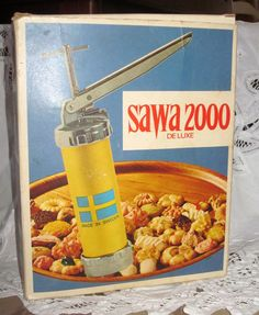 Vintage Swedish cookie press.  This is the one I've years for years, but you have to find a Swedish shop to buy it.