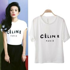 Fashion O Neck Short Sleeve Letter White Cotton T-shirt