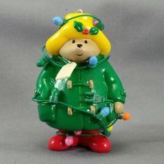 Enesco Paddington Bear All Caught Up In Christmas Ornament 1991 #Enesco #PaddingtonBear