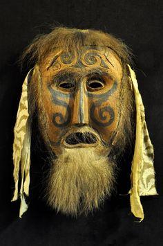 A Khambaba ritual mask of the Udege tribe, Siberia.