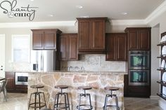 stain color on cabinets