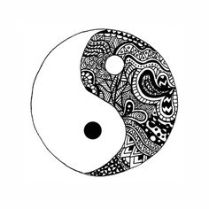 yin yang. maybe do same design on the opposite side in white ink?