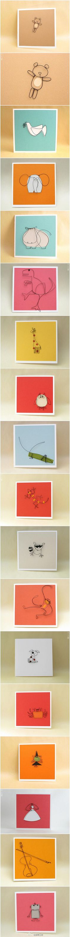 card - made by paper and Iron wire