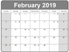 Full Moon Calendar February 2019 #moon #mooncalendar #february2019mooncalendar Free Printable Calendar, Free Printables, Moon Calendar, Lunar Phase, Full Moon, February, Harvest Moon, Moon Sign Calendar, Free Printable