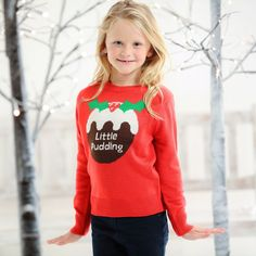 Kids Little Pudding Jumper Cute Christmas Jumpers, Christmas Pudding, Christmas Shopping, Boy Or Girl, Casual Outfits, Super Cute, Trending Outfits, Graphic Sweatshirt, Knitting