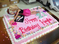 Haha drunk Barbie! Barbie Birthday Cake, Guys 21st Birthday, 21st Bday Ideas, 21st Birthday Cakes, 21 Birthday, Tequila Cake, Drunk Barbie Cake, Fun Deserts, 21st Party