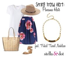 Spring Trend: Panama Hats by amy-kriz on Polyvore featuring T By Alexander Wang, rag & bone, Stella & Dot, BCBGMAXAZRIA and stelladotstyle
