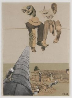 Hannah Höch: Von oben (From Above), 1926-27, photomontage and collage on paper 30.5 x 22.2 cm (12 x 8 ¾ in.) Des Moines Art Center's Louise Noun Collection of Art by Women through Bequest, 2003