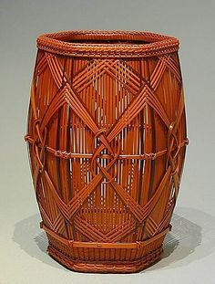 "HAYAKAWA Shokosai V | ""Hawk Feather Knot Hexagonal Flower Basket"", 2004"