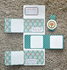 Voici un mini album Scrapbooking Album, Mini Albums Scrapbook, Scrapbook Cards, Mini Album Tutorial, Mini Photo, Album Book, Handmade Books, Handmade Journals, Mini Books