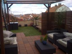 Ideas para patio and google on pinterest - Decorar terrazas reciclando ...