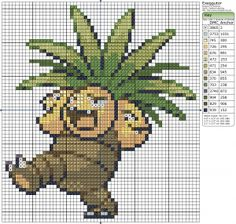 Birdie Stitching Pokemon Pattern - 103 Exeggutor