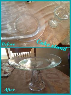 Use e6000 glue, Cake stand DIY